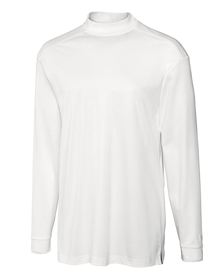 CUTTER & BUCK MCK00369 男士CB圆领L/S高领纯色长袖T恤