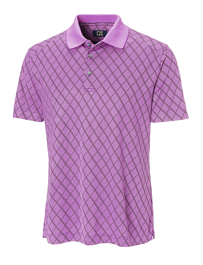 CUTTER & BUCK MCK00586 - Men's CB DryTec Luxe Hugh Polo