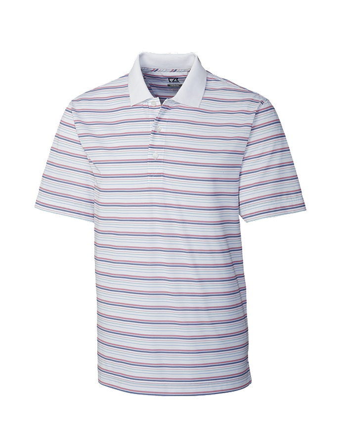 CUTTER & BUCK MCK00768 - Men's CB DryTec Luna Cafe' Stripe