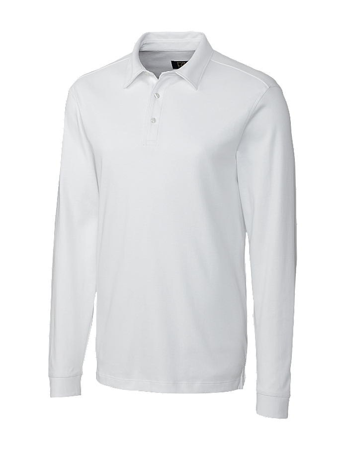 CUTTER & BUCK MCK00972 - Men's L/S Pima Belfair Polo