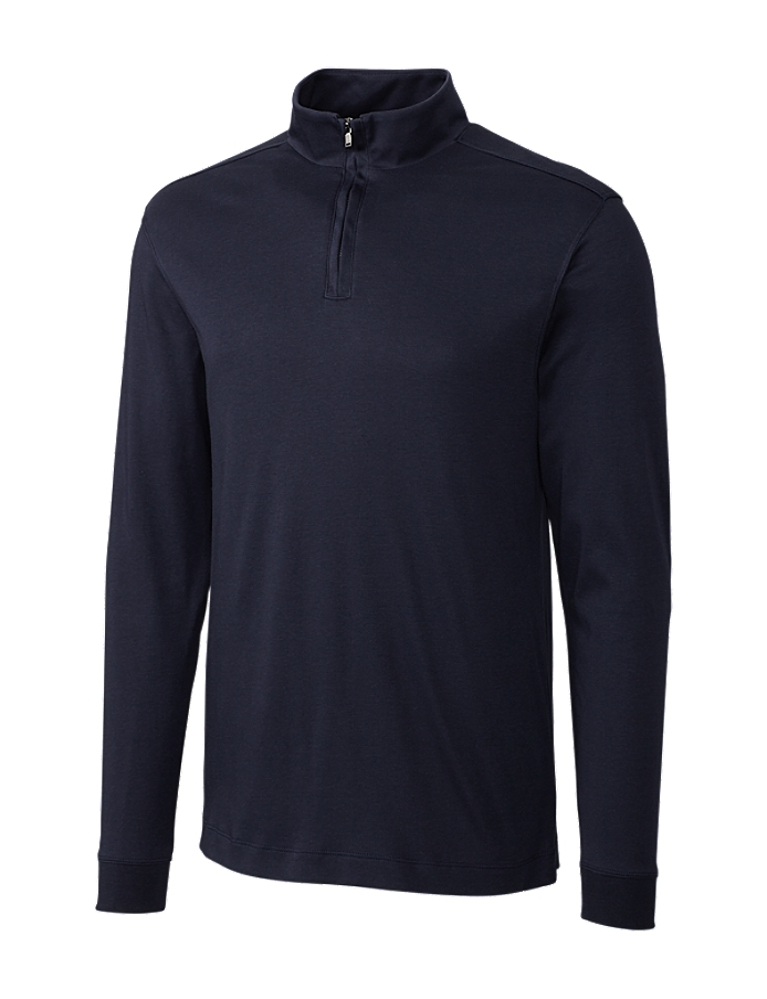 CUTTER & BUCK MCK00973 - Men's L/S Pima Belfair Zip ...