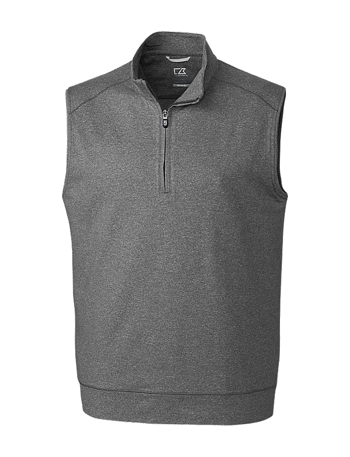 CUTTER & BUCK MCK09420 - Men's Shoreline Half Zip Vest