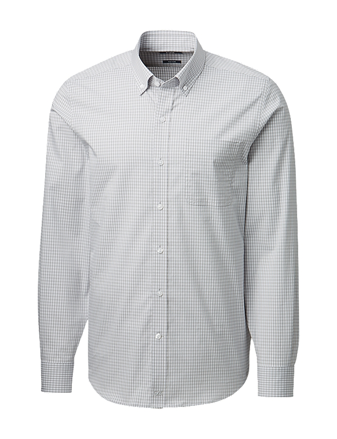 CUTTER & BUCK MCW00185 - Men's Anchor Gingham Tailored ...