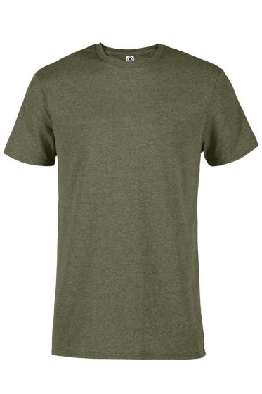 Delta Apparel 12601 - Adult 4.3 oz Soft Spun Pepper Heather Tee