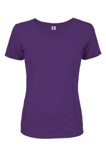 Delta Apparel 56535S - 30/1's Ladies Performance Short Sleeve Tee