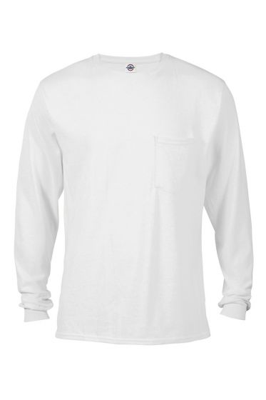 Delta Apparel 64732L - Adult 6.0 oz Long Sleeve Pocket ...