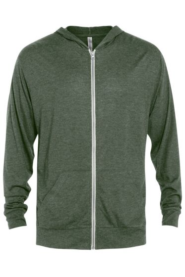 Delta Apparel P910T - Adult Tri-Blend Full Zip Hoodie