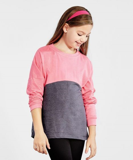 Soffe S5353GP - Girls Fanwear Crew