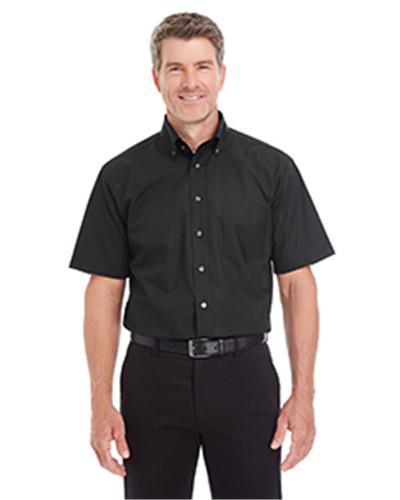 Devon & Jones D620S - Men's Crown Collection Solid Broadcloth Short-Sleeve Shirt