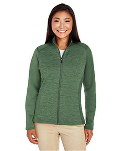 Devon & Jones DG796W - Ladies' Newbury Colorblock Melange Fleece Full-zip