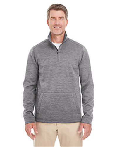 Devon & Jones DG798 - Men's Newbury Melange Fleece Quarter-zip