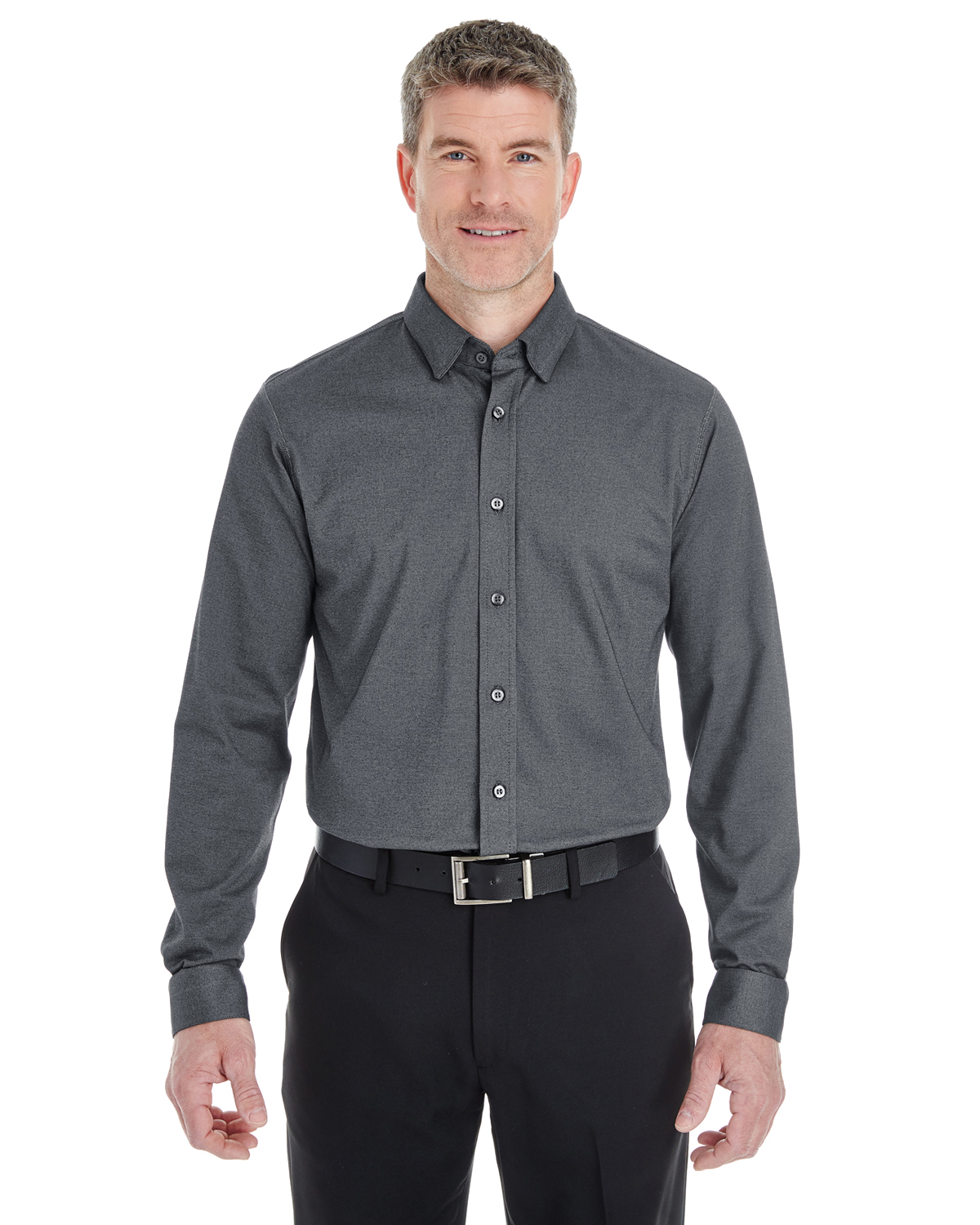 Devon & Jones DG230 - Men's Central Cotton Blend Melange ...