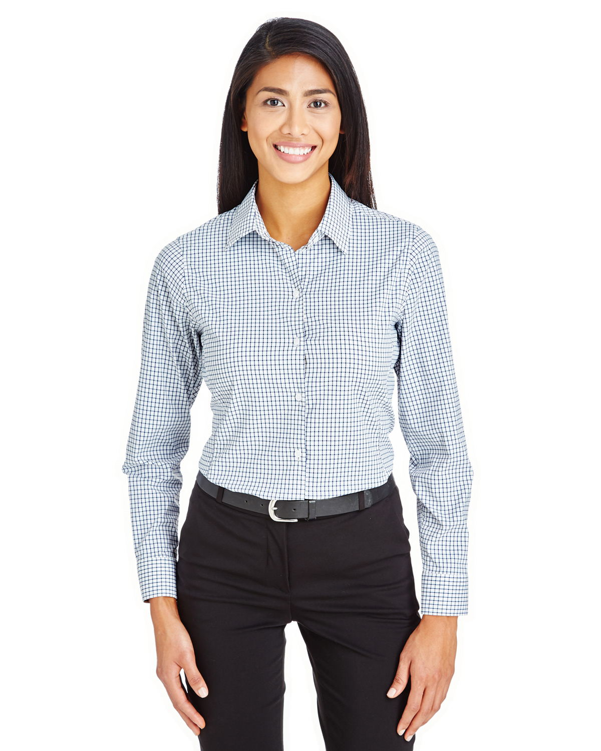 Devon & Jones DG540W - Ladies CrownLux Performance Micro Windowpane Shirt