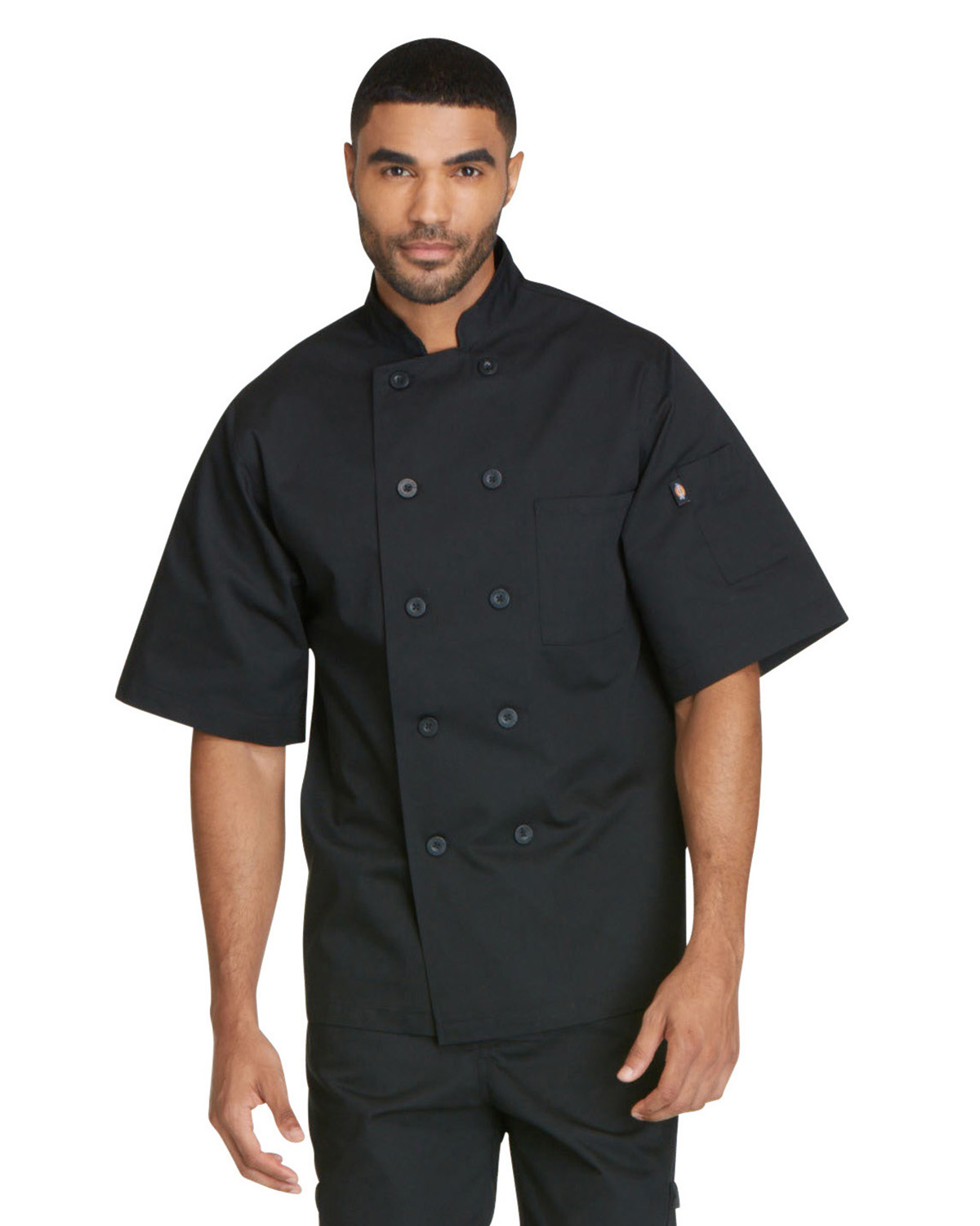 Dickies DC49 - Chef Unisex Classic 10 Button Short Sleeve ...