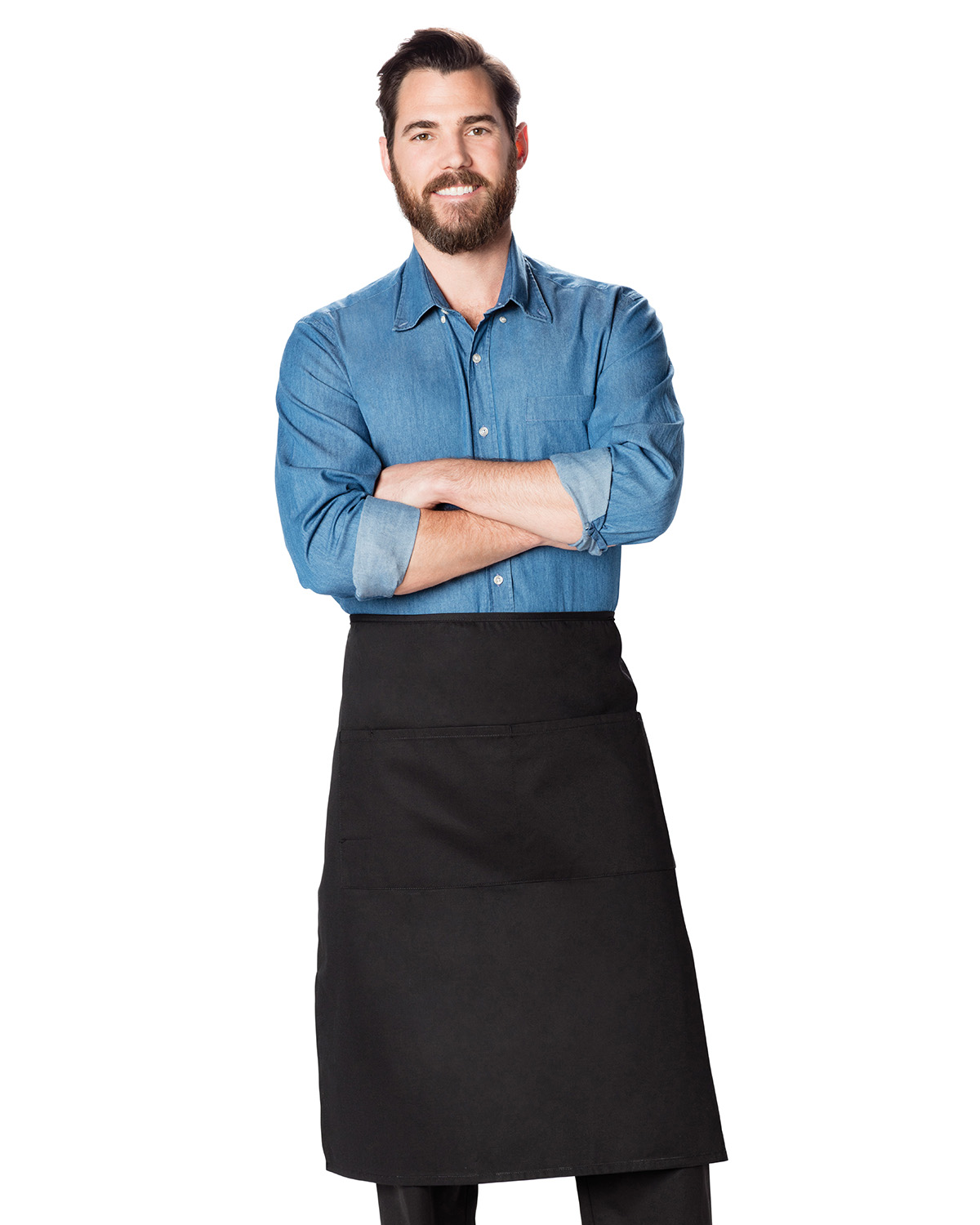 Dickies DC58 - Chef Full Bistro Waist Apron with 2 Pockets