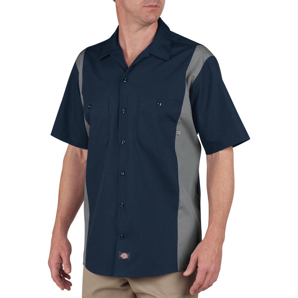 Dickies LS524 - Men's Shirt Sleeve Industrial Color Block Shirt