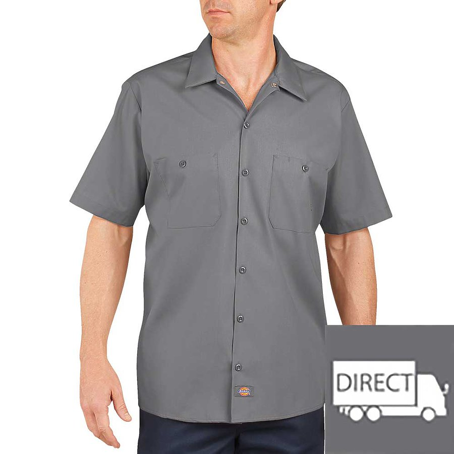 Dickies LS535T - Short Sleeve Industrial Work Shirt ...