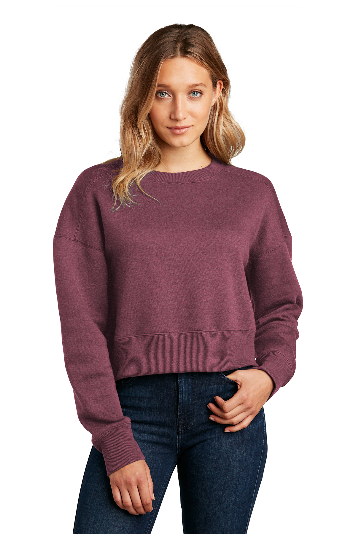 District ® DT1105 - Women's Perfect Weight ® Fleece Cropped Crew