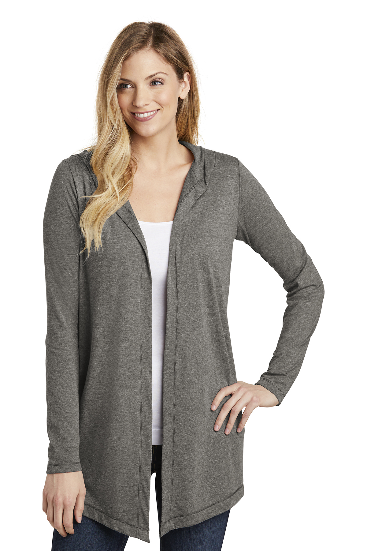 District DT156 - Women's Perfect Tri Hooded Cardigan