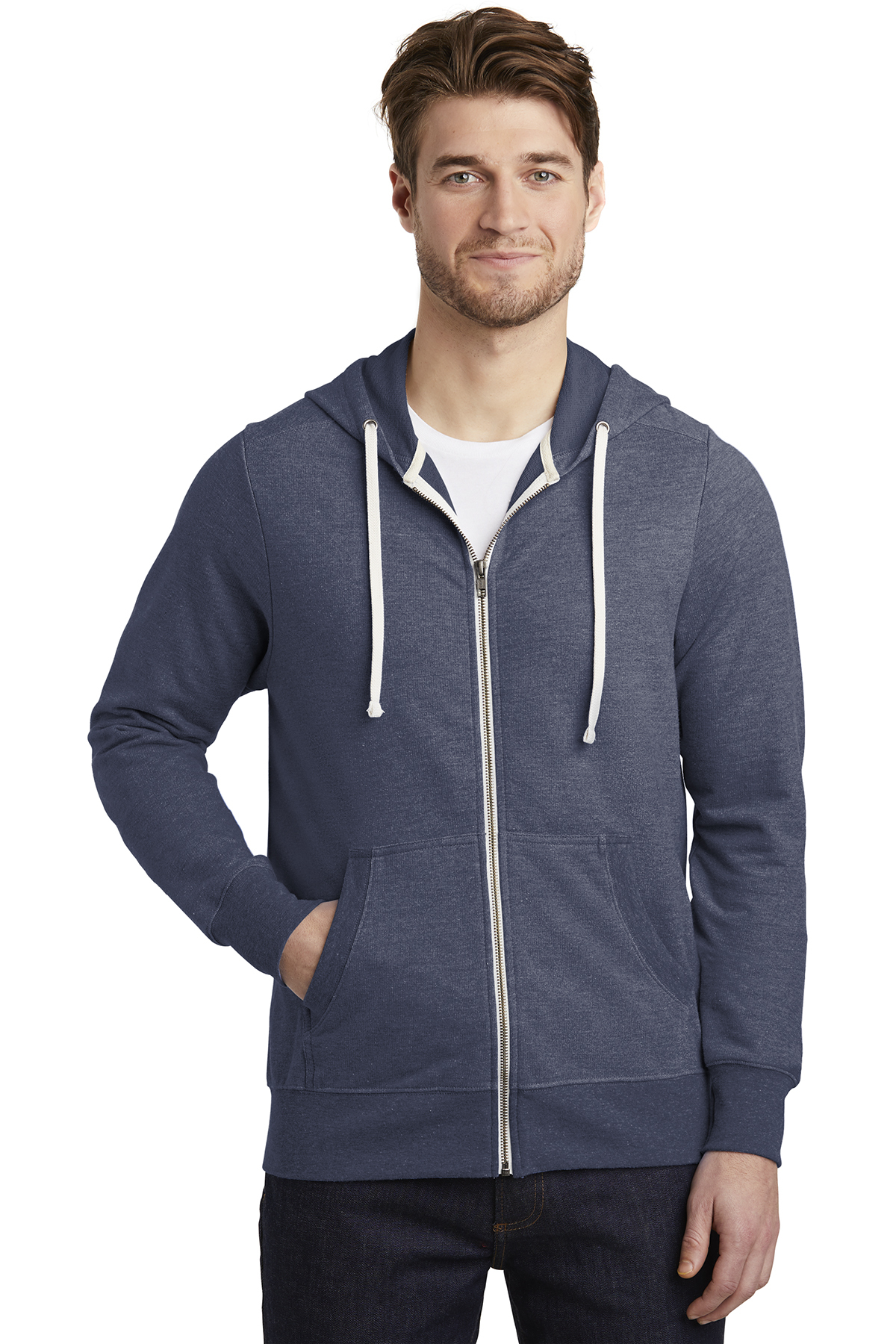 District DT356 - Men's Perfect Tri French Terry Full-Zip Hoodie