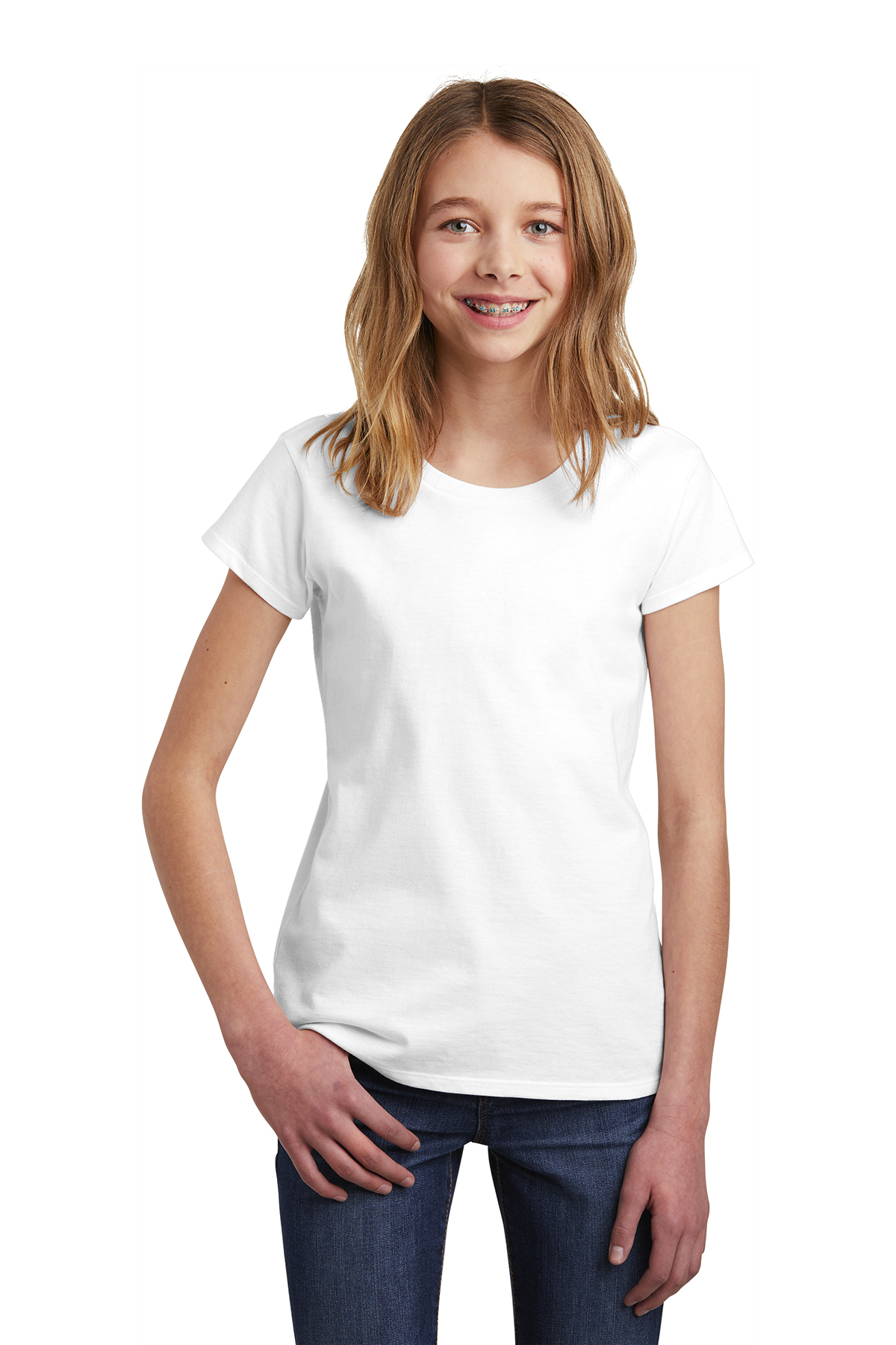 District DT6001YG - Girls Very Important Tee