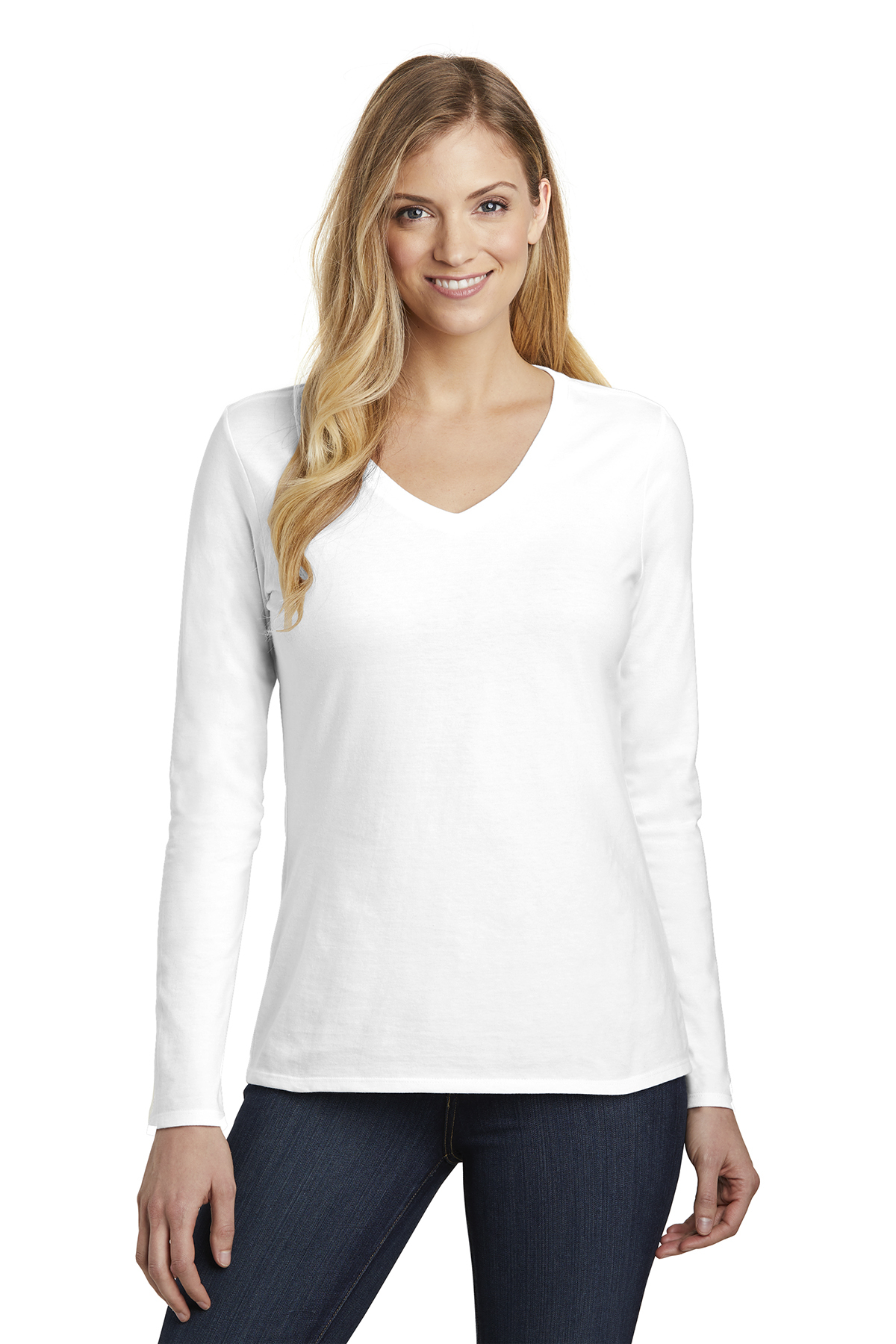 District DT6201 - Women's Very Important Tee Long Sleeve V-neck