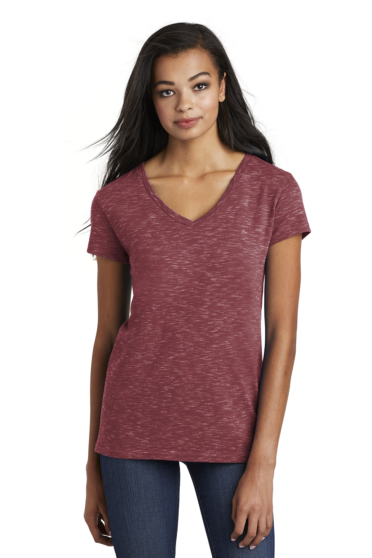 District DT664 - Women's Medal V-Neck Tee