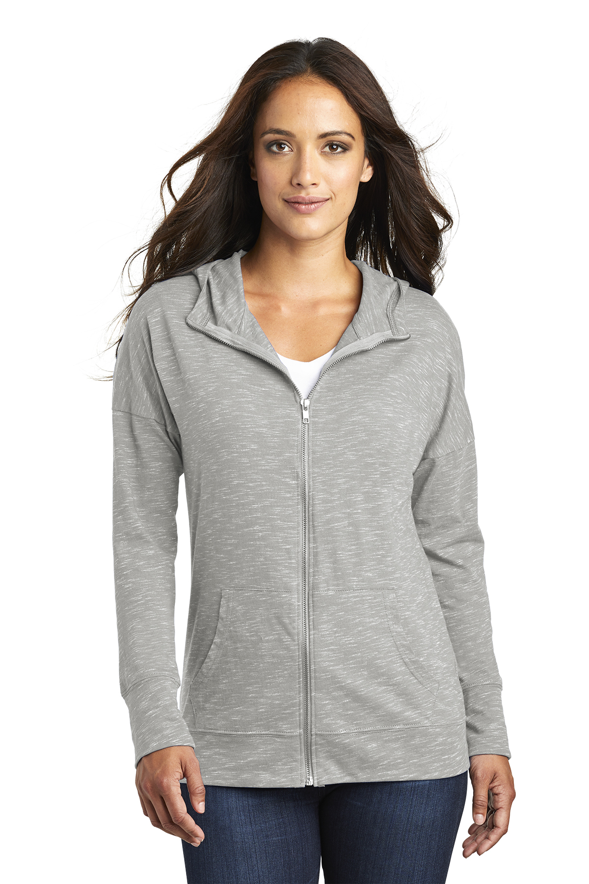 District DT665 - Women's Medal Full-Zip Hoodie
