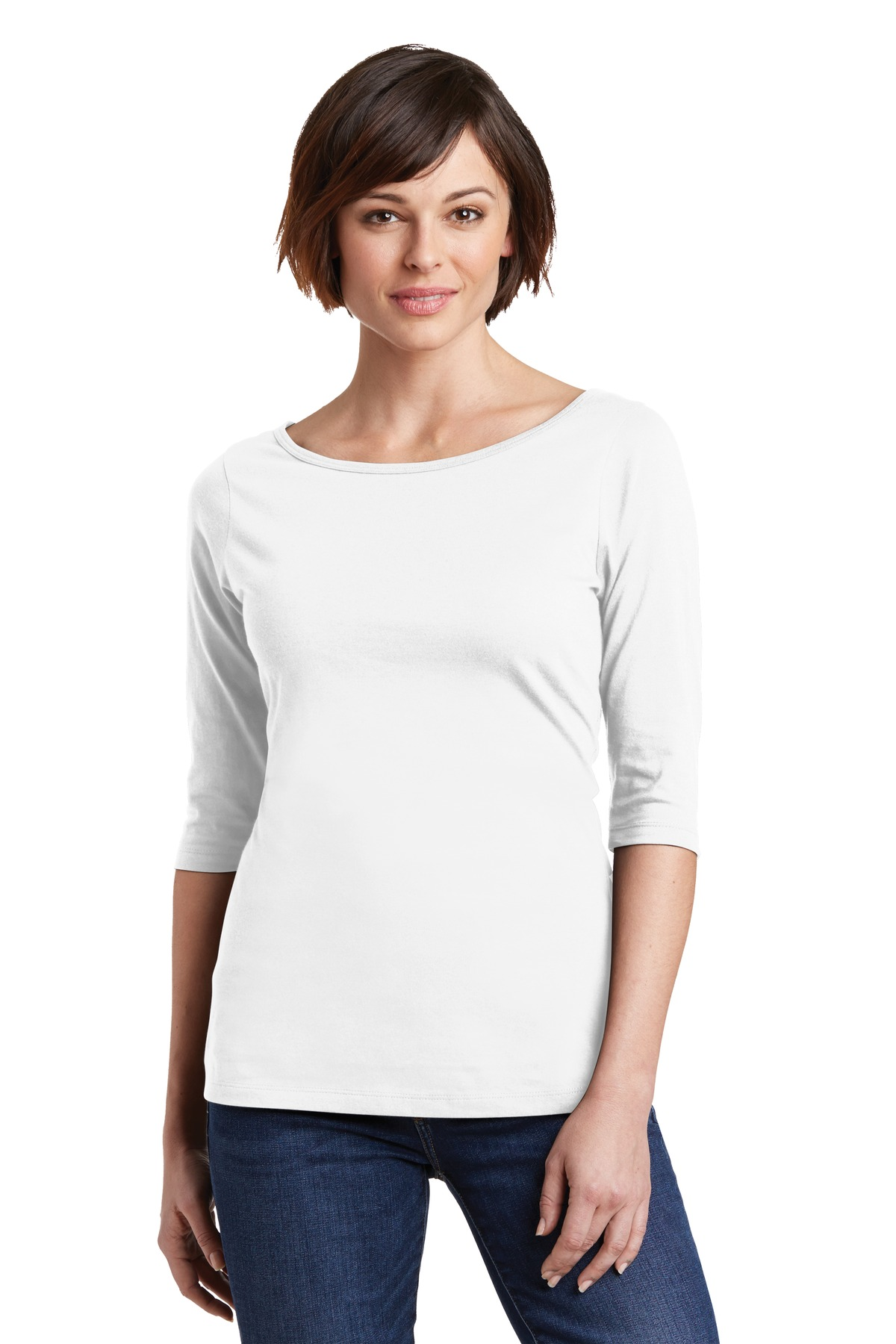 District Made  Ladies Perfect Weight  DM107L - 3/4 Sleeve ...