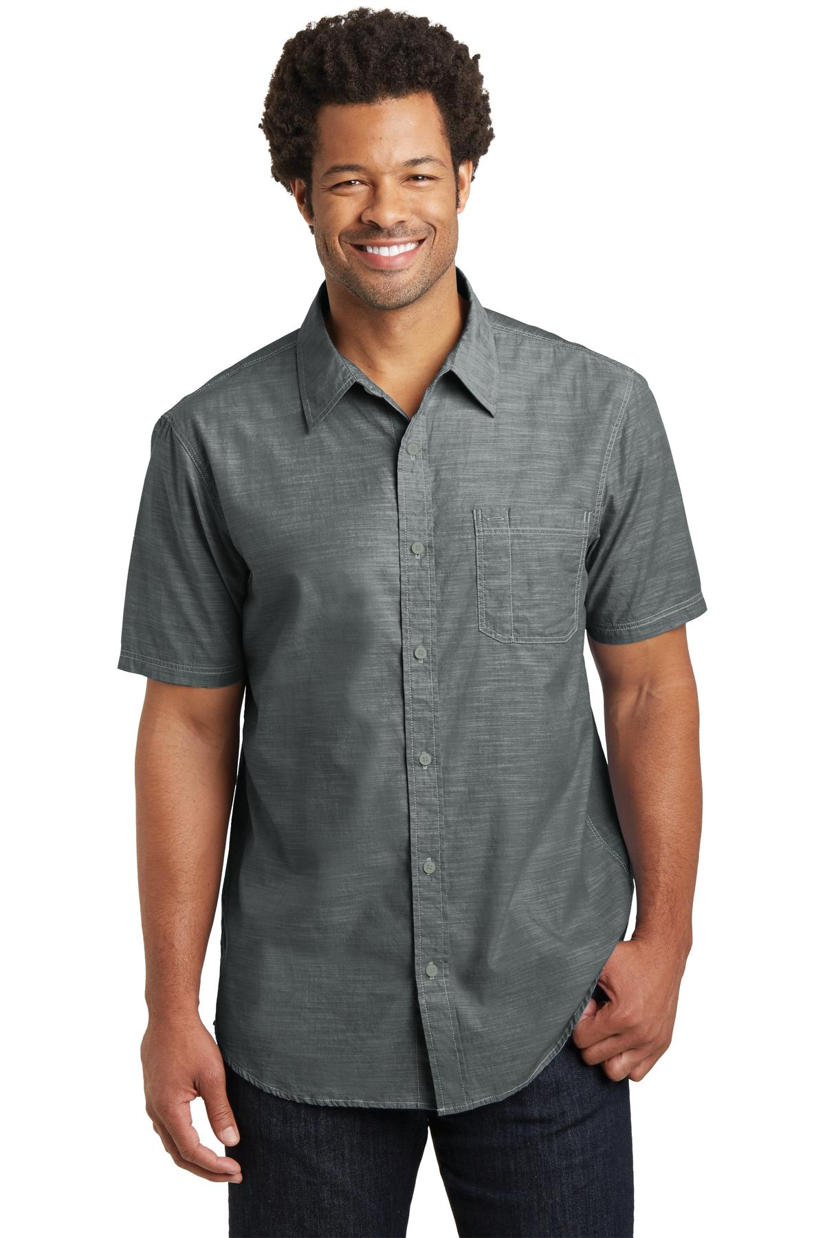 District Made® DM3810 - Mens Short Sleeve Washed ...