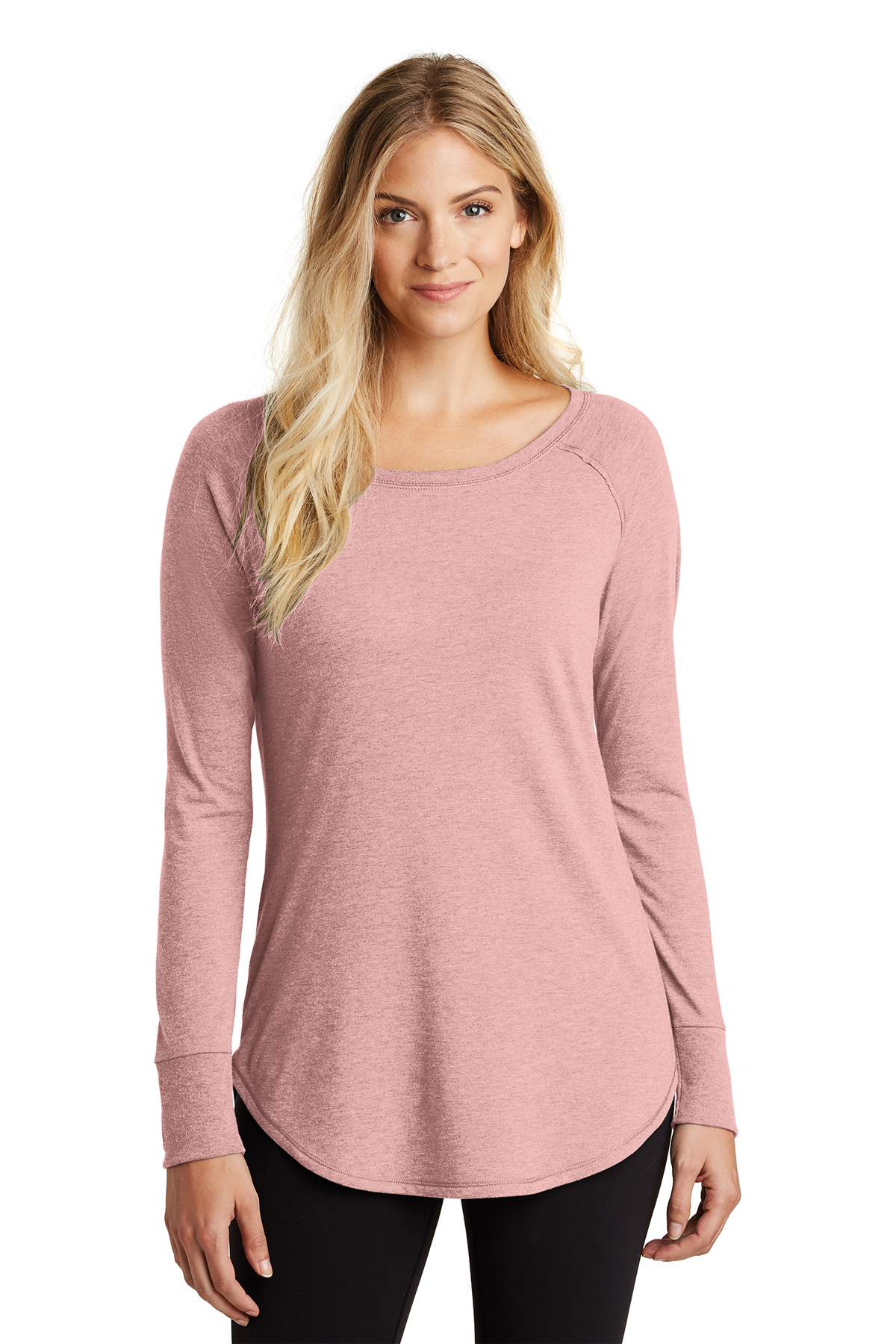 District Made DT132L - Ladies Perfect Tri Long Sleeve ...