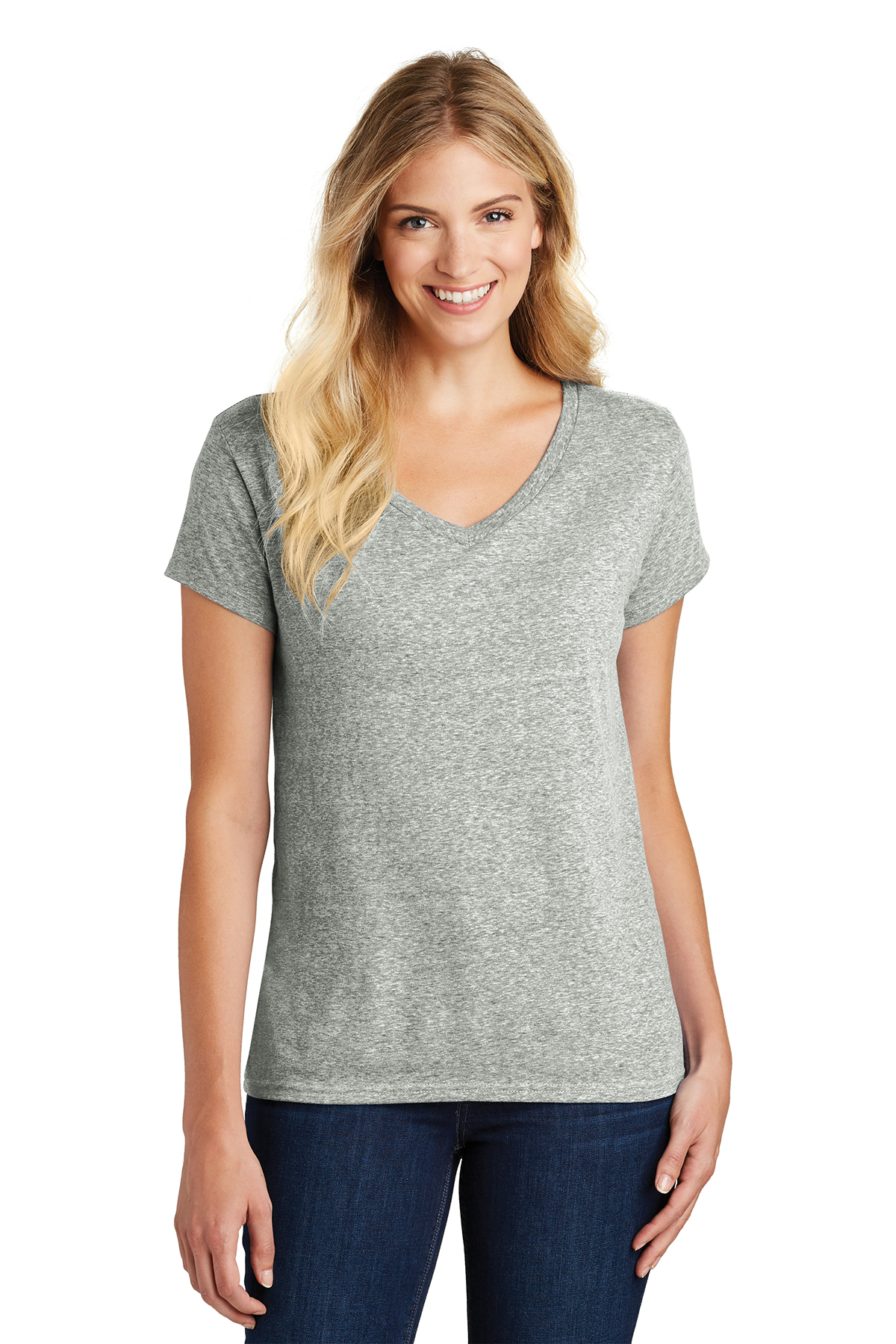 District Made DM465A - Ladies Cosmic Relaxed V-Neck Tee
