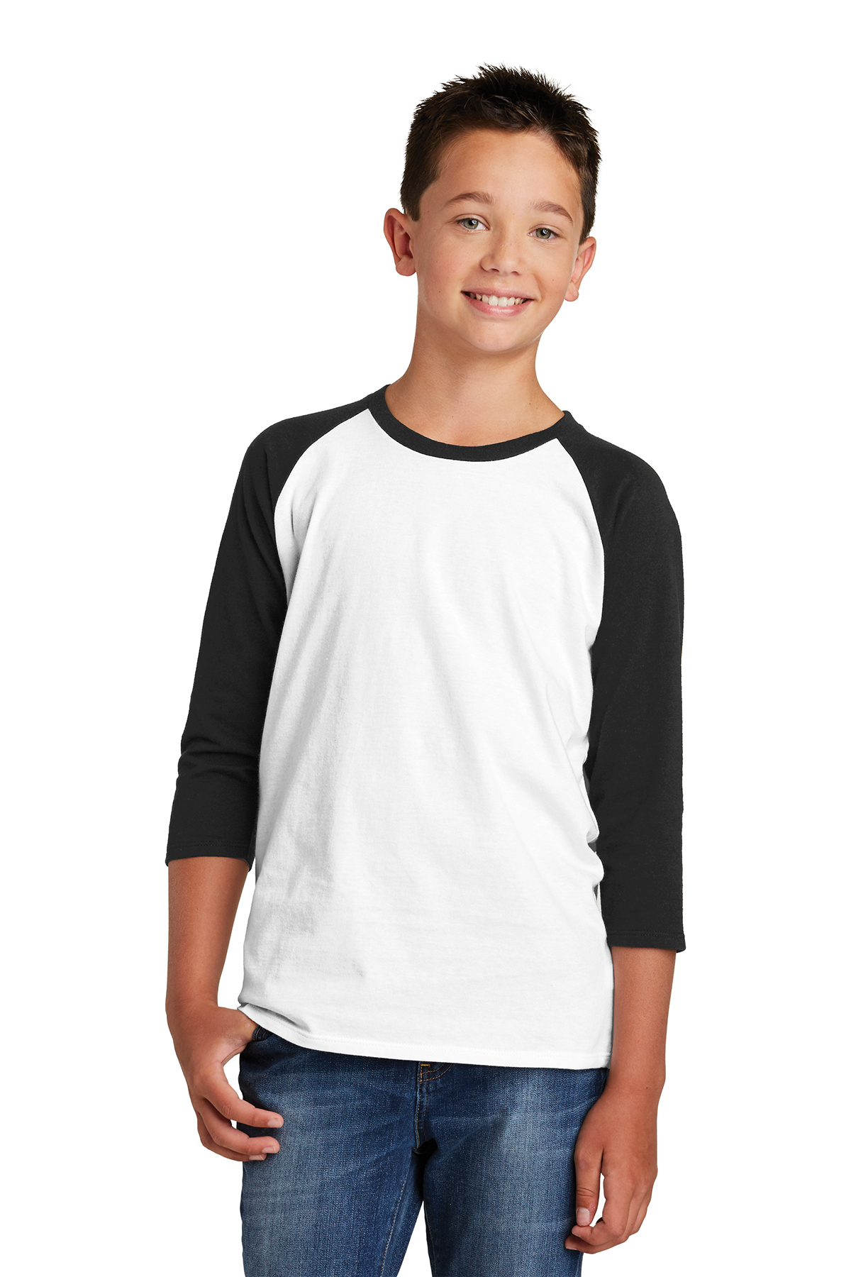 District DT6210Y - Youth Very Important Tee 3/4-Sleeve ...