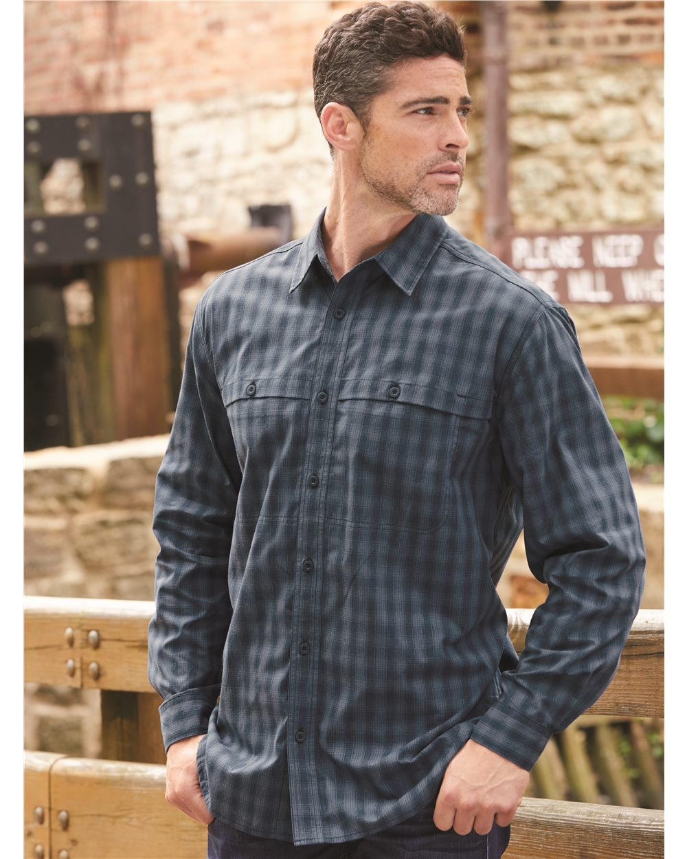 DRI DUCK 4465 - Men's Paseo Plaid Shirt