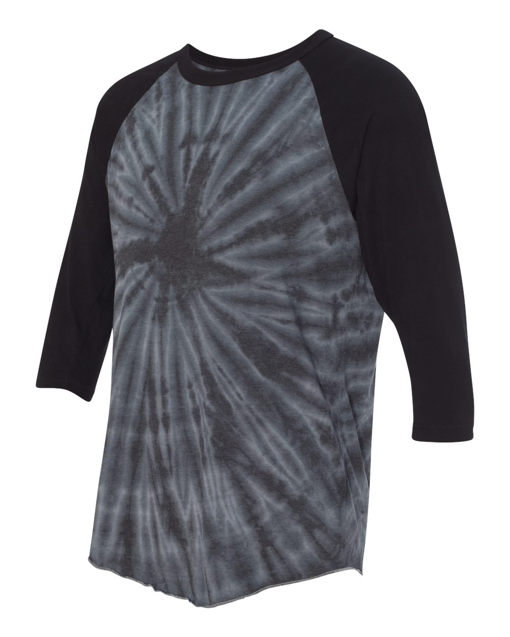 Dyenomite 660VR - Tie-Dyed Three-Quarter Sleeve Raglan T-Shirt