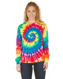 Dyenomite Drop Ship 240MS - Long Sleeve Spiral Tie-Dye T-Shirt