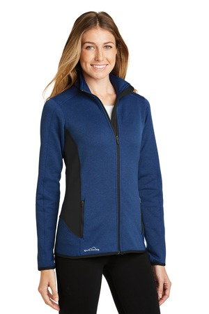 Eddie Bauer® EB239-Ladies Full-Zip Heather Stretch Fleece Jacket
