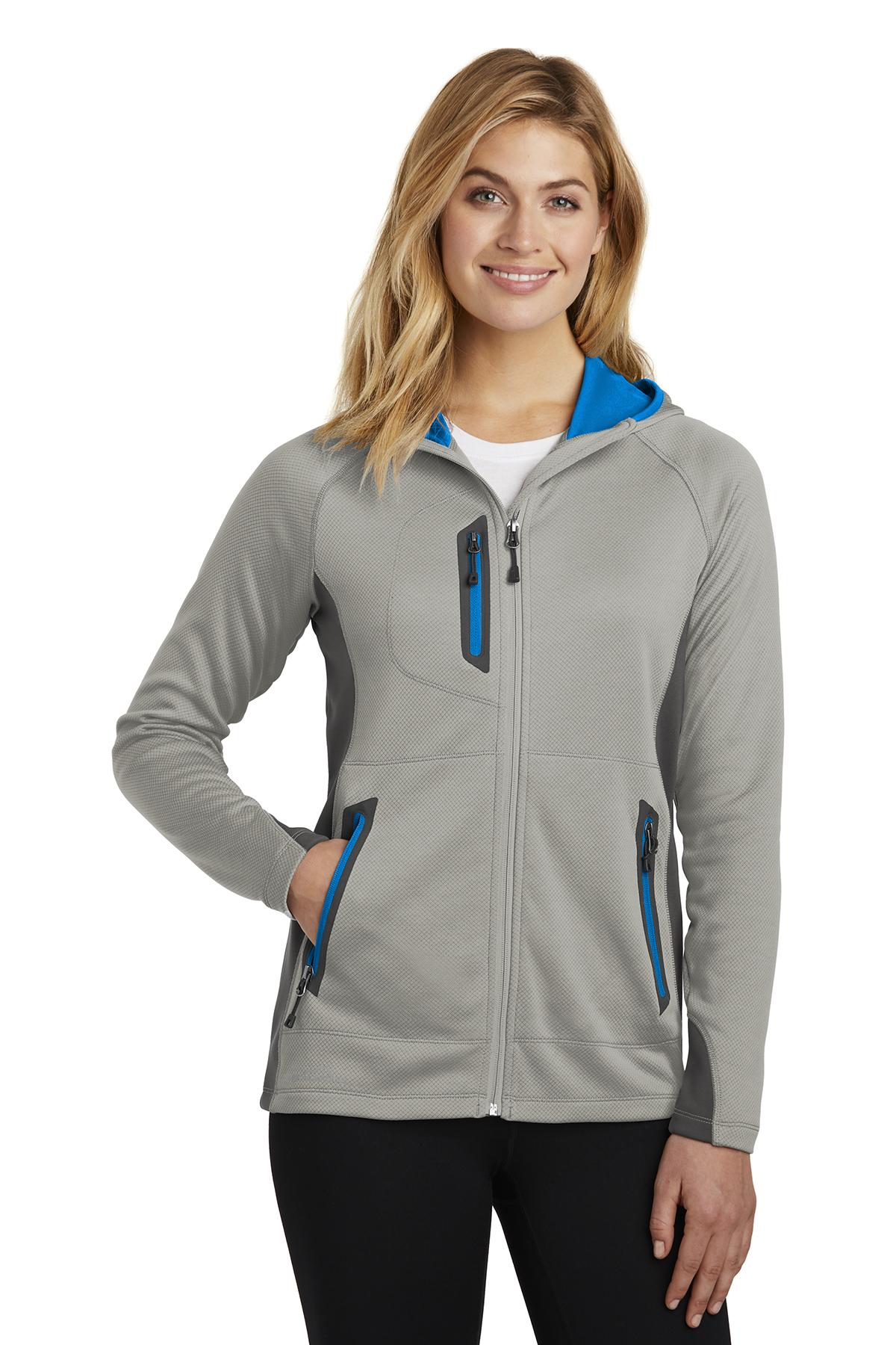Eddie Bauer EB245 - Ladies Sport Hooded Full-Zip Fleece ...