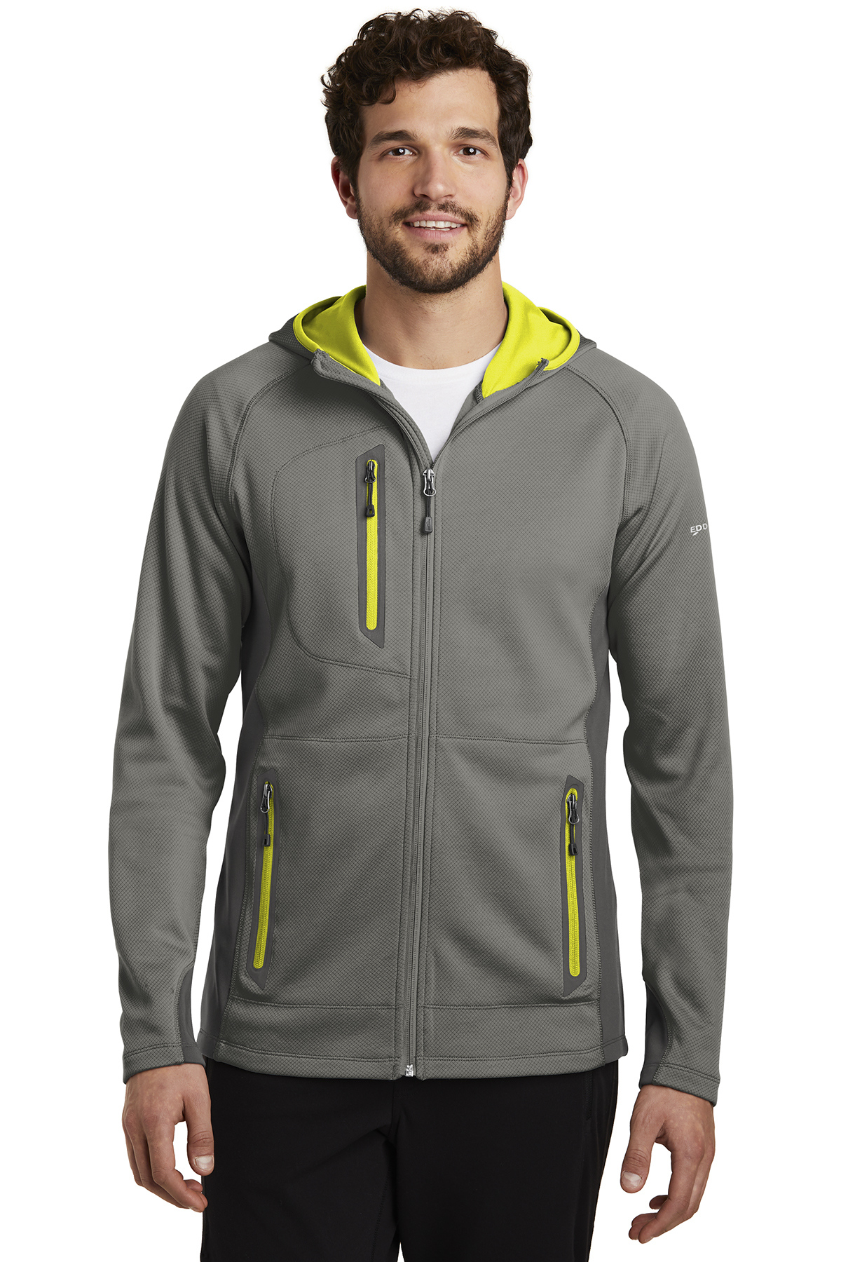 Eddie Bauer EB244 - Men's Sport Hooded Full-Zip Fleece Jacket