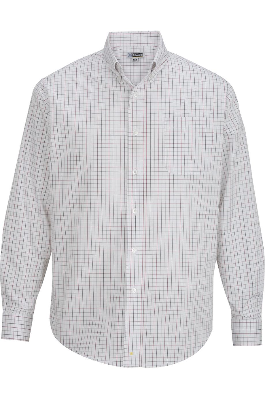 Edwards Garment 1973 - Men's Tattersall Poplin Shirt