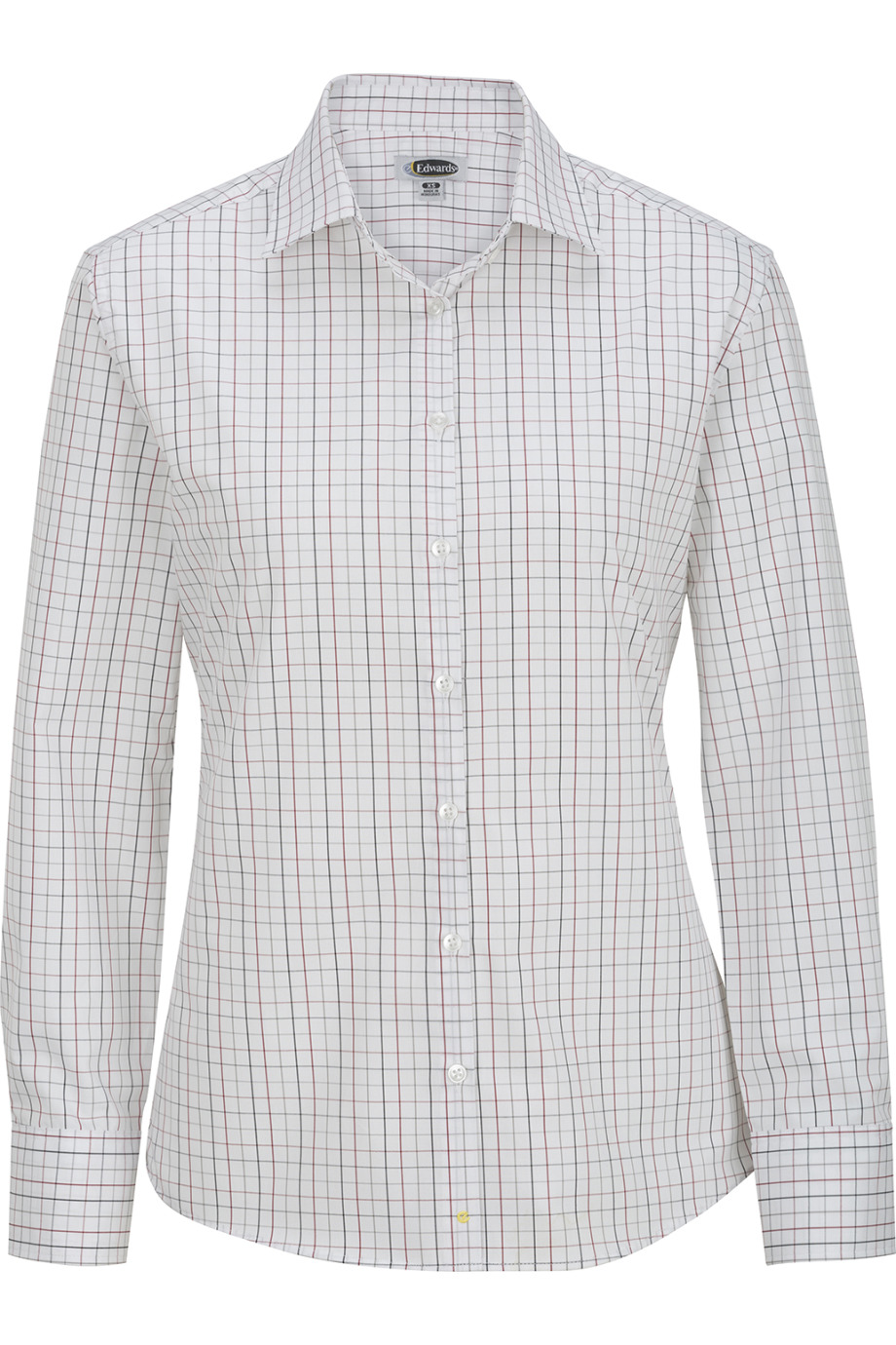 Edwards Garment 5973 - Ladies'Tattersall Poplin Shirt