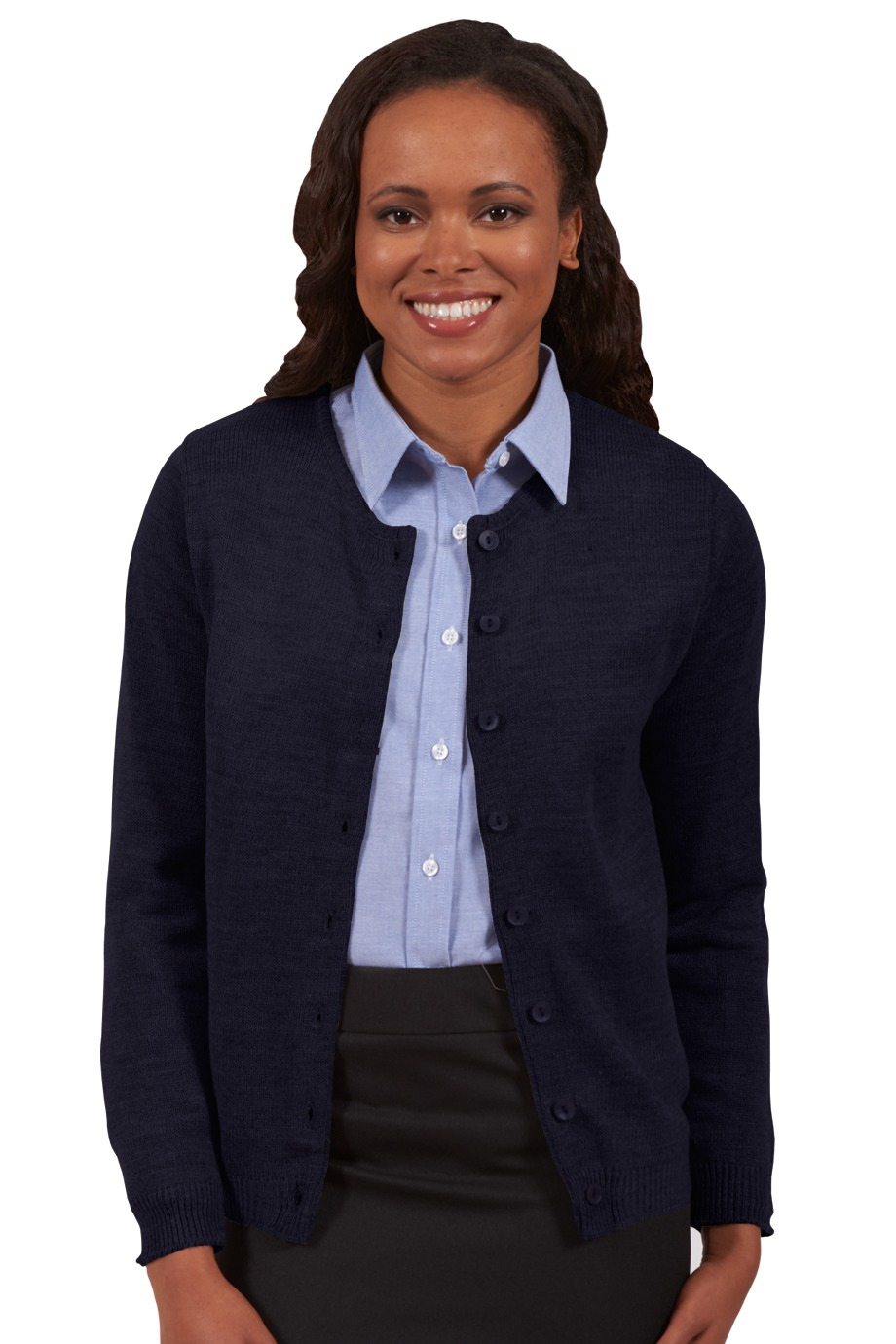 Edwards Garment 7061 - Drop Neck Acrylic Cardigan