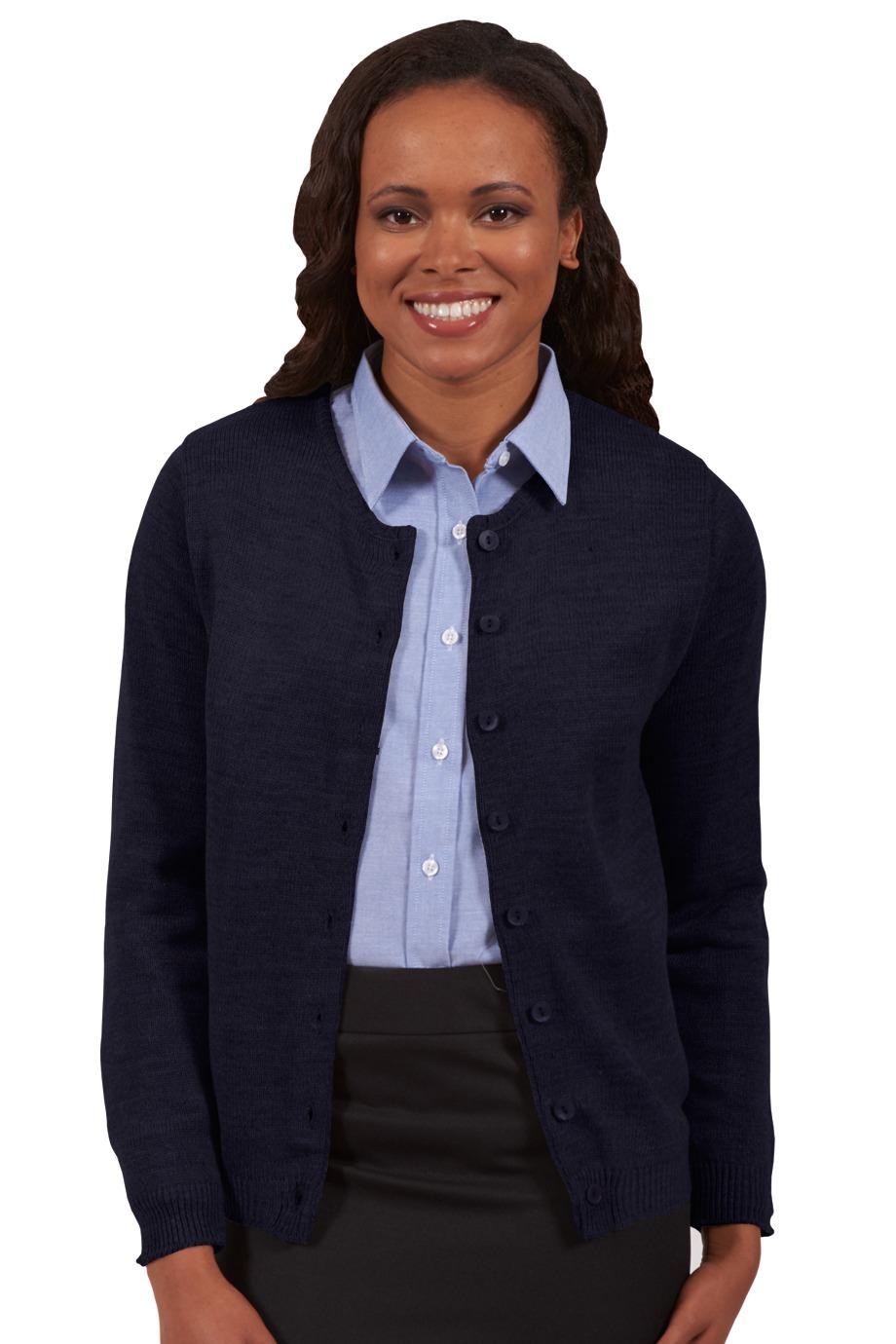 Edwards Garment 7061 女士圆领系扣开衫