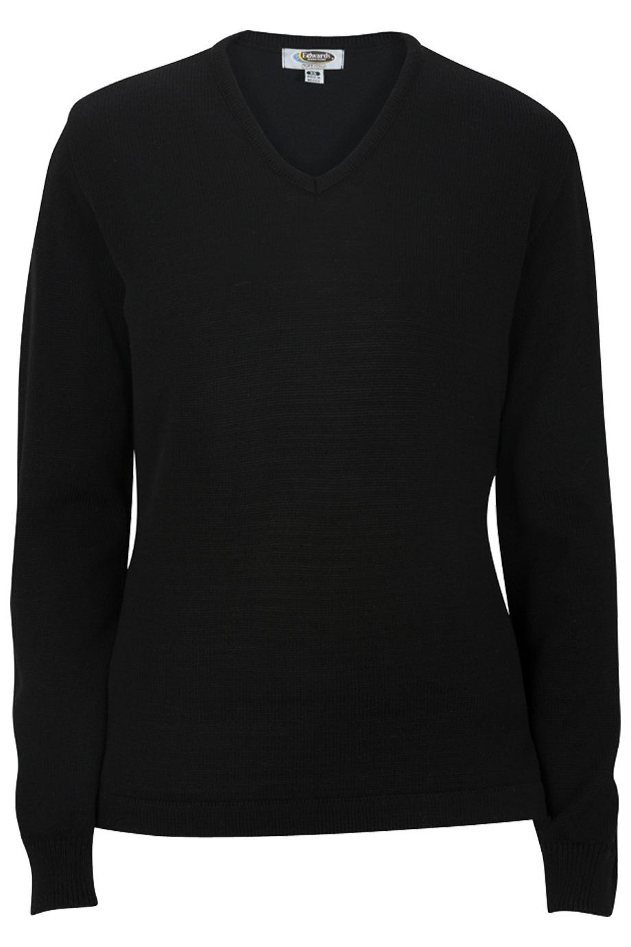 Edwards Garment 7065 - Ladies' V-Neck Sweater Tuff-Pil Plus