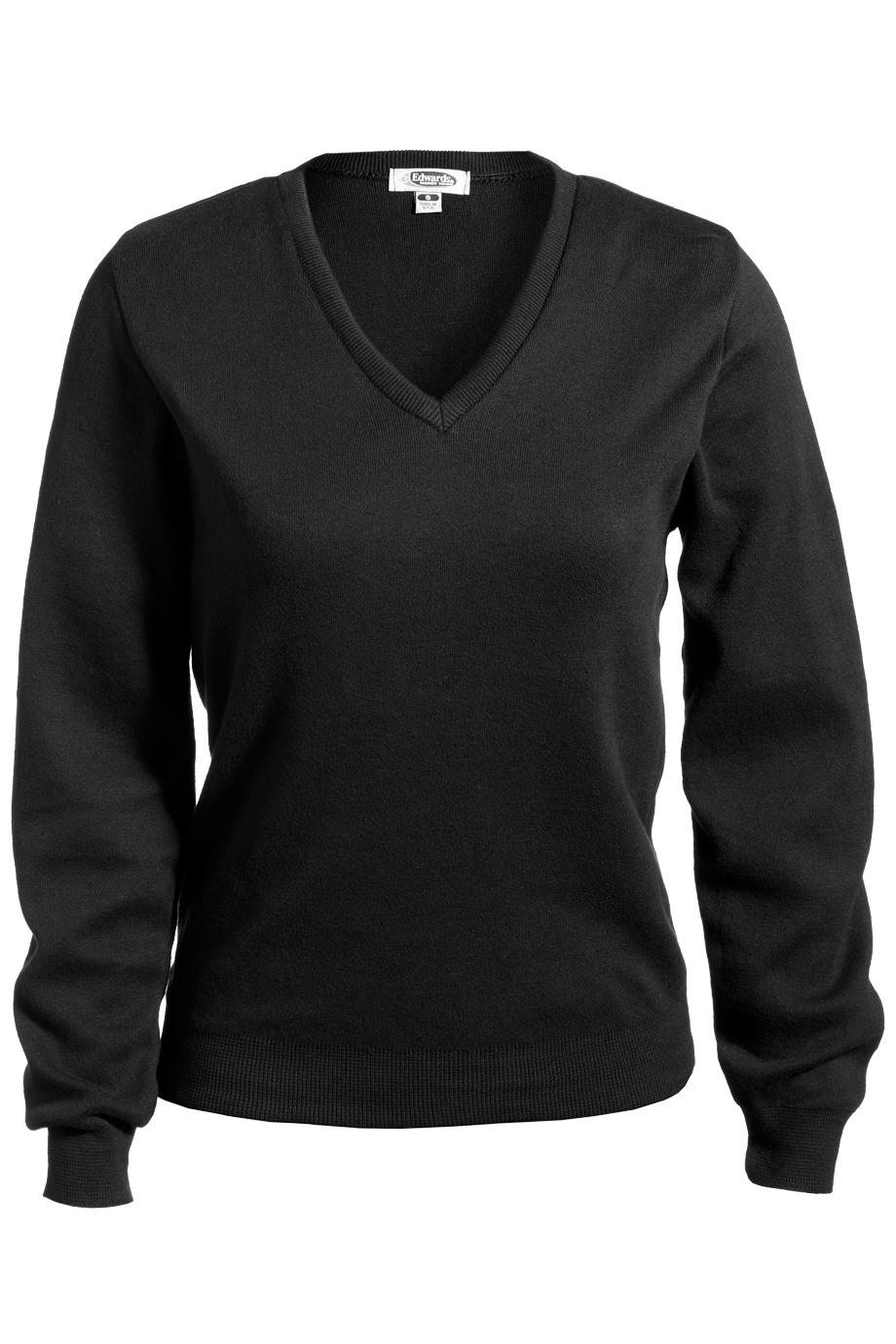 Edwards Garment 7090 - Ladies' V-Neck Cotton Sweater