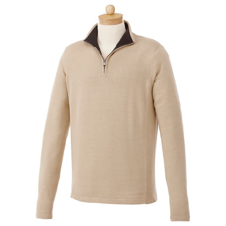 Elevate TM18607 - Men's Moreton Quarter Zip Sweater