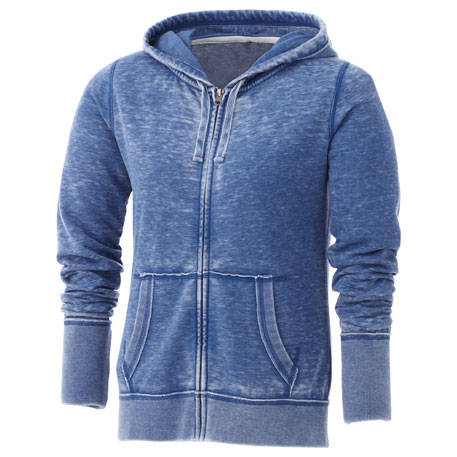 Elevate TM98118 - Women's Burnout Fleece Full Zip Hoody