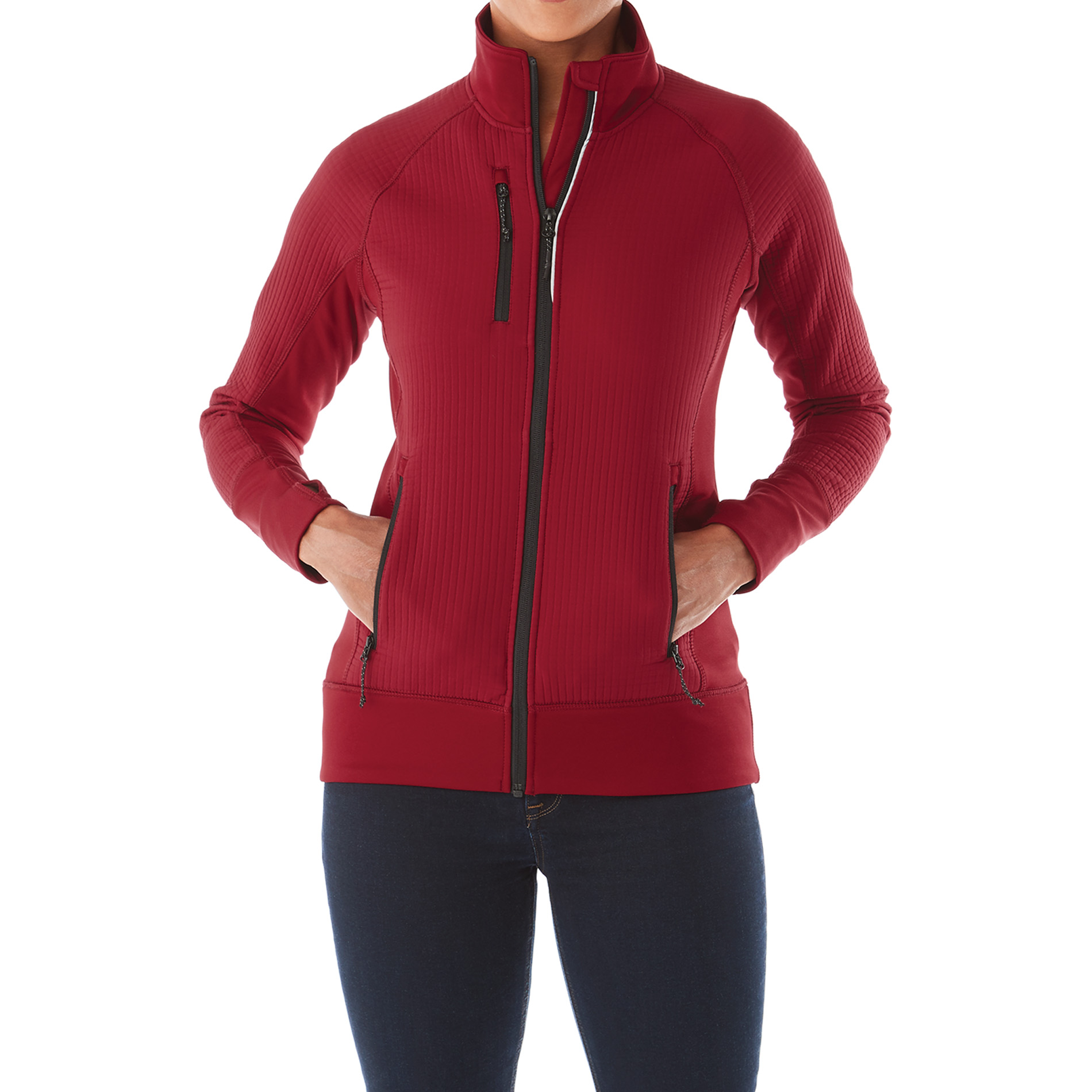 Elevate TM98153 - Women's PANORAMA Hybrid Knit Jacket