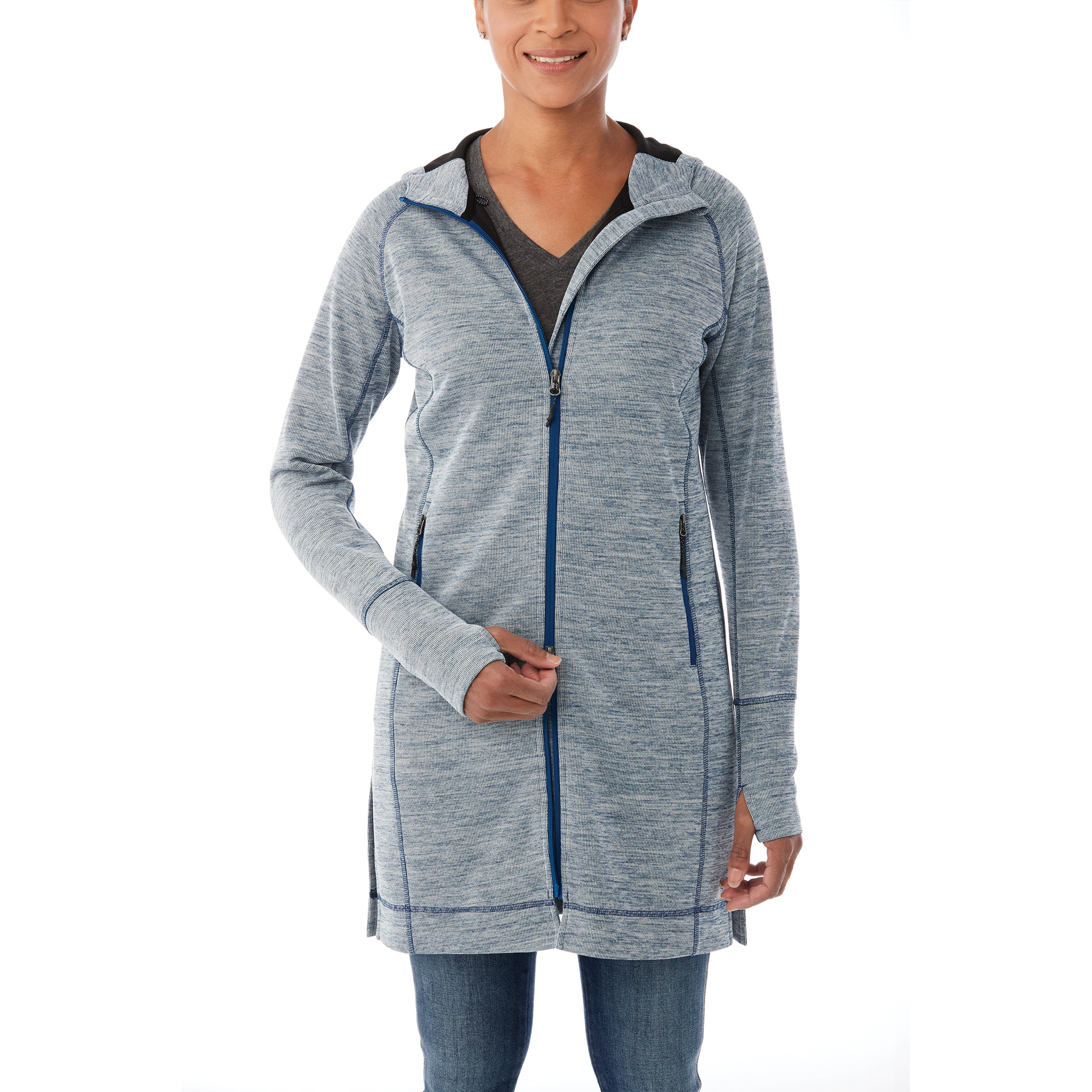 Elevate TM98210 - Women's ODELL Knit Zip Hoody