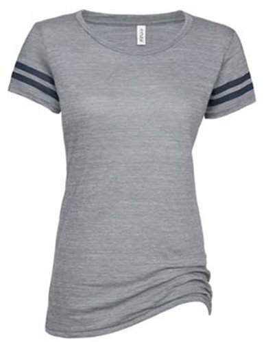 Enza 07579 - Ladies Vintage Triblend Football Tee